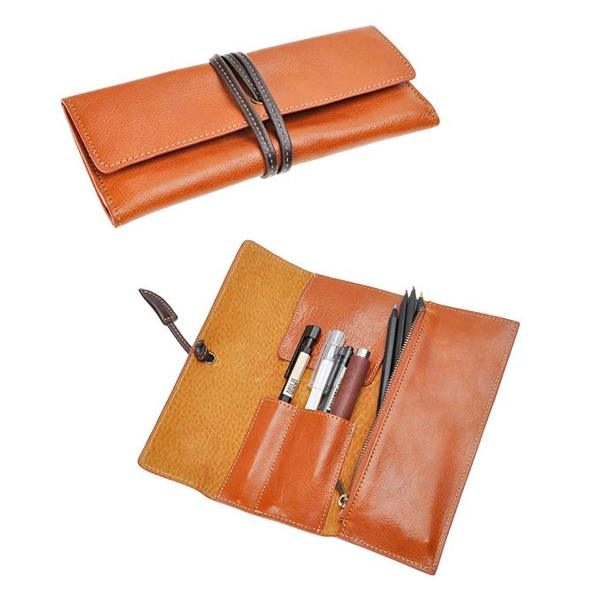 Best Soft: ZLYC Handmade Leather Pen Case Pencil Holder