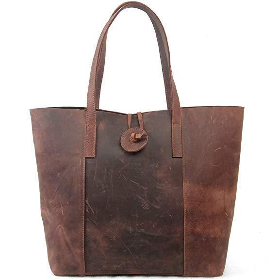 Best Value: Jack&Chris New Vintage Cow Leather Shoulder Bag
