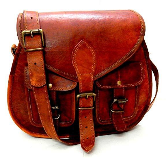 Best Retro: Firu-Handmade Women's Brown Leather Crossbody Shoulder Bag