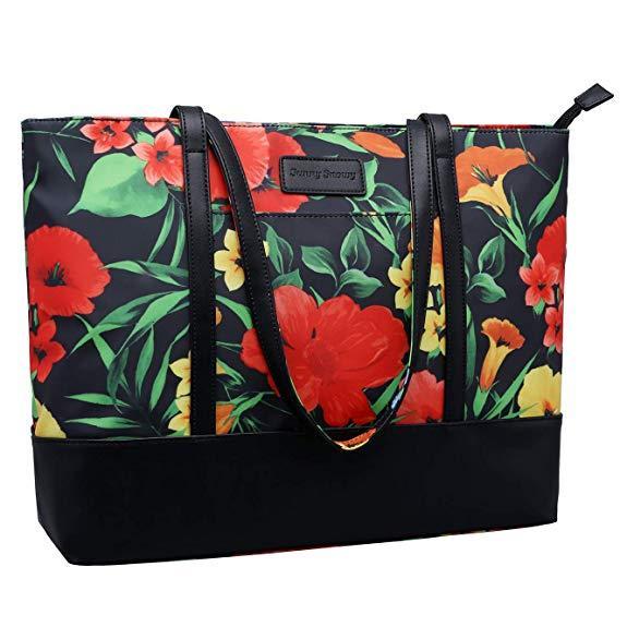 Best Lightweight: Sunny Snowy Laptop Tote Bag Shoulder Bag