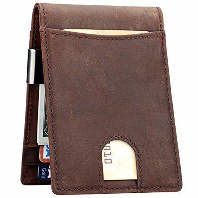 Best Minimalist Bifold: Lavemi Slim Leather Wallet for Men