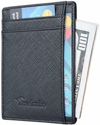 Best Small: Travelambo RFID Slim Leather Wallet