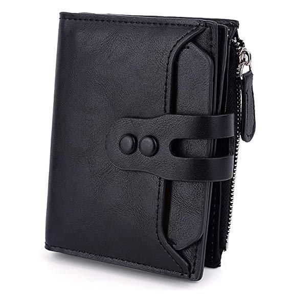 Best for Organization: UTO RFID Wallet for Women PU Matte Leather
