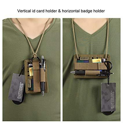 Best Neck Lanyard: OneTigris Tactical ID Card Holder Hook & Loop Patch Badge Holder Neck Lanyard Key Ring and Credit Card Organizer
