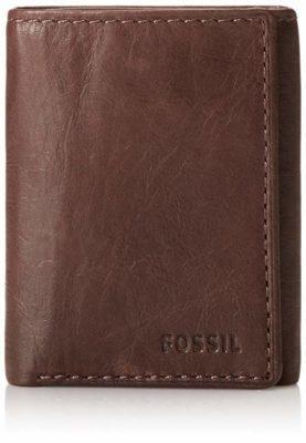 Best Slim:Fossil Men's Ingram Leather Trifold Wallet