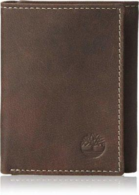 Best for Functionality: Timberland Mens Leather Trifold Wallet With ID Window