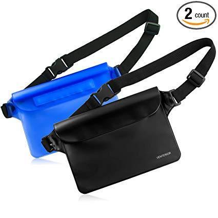 Best Beach: Venterior Waterproof Pouch 2 Pack with Adjustable Waist Strap