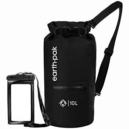 Best for Boating: Earth Pak- Waterproof Dry Bag with Front Zippered Pocket Keeps Gear Dry for Kayaking