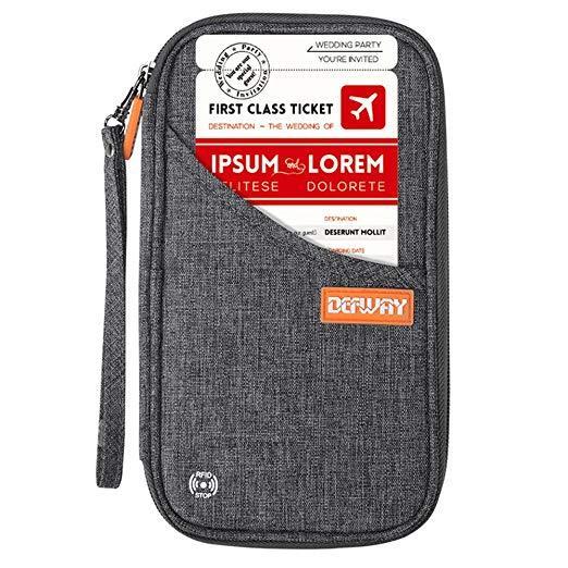 Best for Travel: defway Travel Waterproof Wallet RFID Blocking Family Passport Holder
