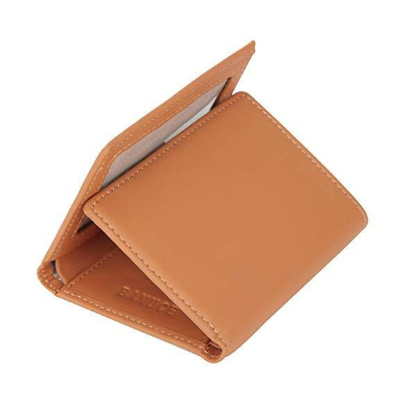 Best Mid-Range: Banuce Colored Leather Trifold Wallet for Women