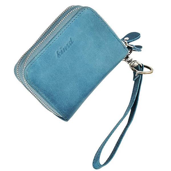 Best Budget: kinzd Accordion Wallet RFID Leather Card Wristlet Wallet for Women