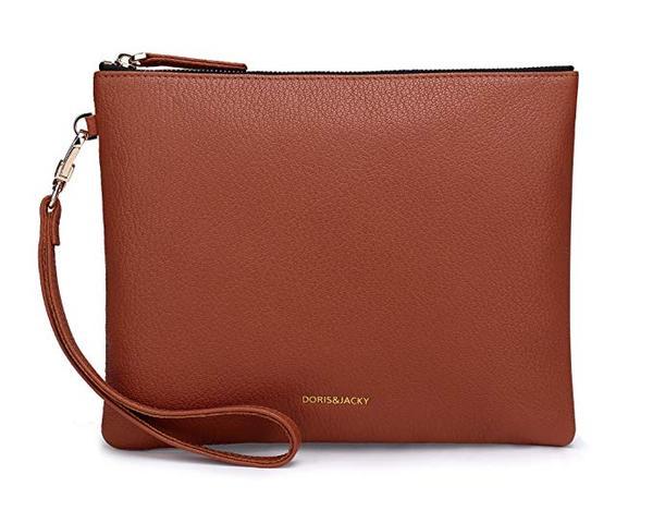 Best Multipurpose: Doris&Jacky Soft Lambskin Leather Wristlet Clutch Wallet For Women