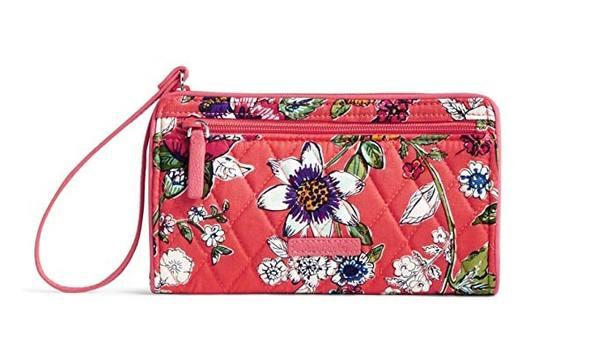 Best for Girls: Vera Bradley Women's Signature Cotton RFID Front Zip Wristlet Wallet