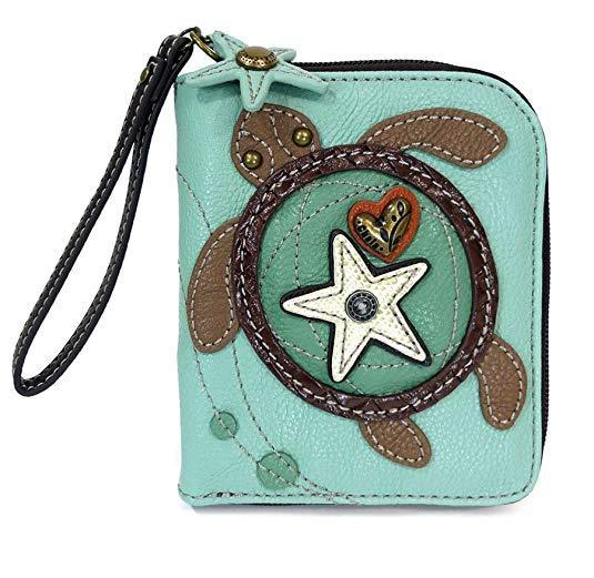 Best Small: Chala Zip Around Wristlet Wallet Pu Leather