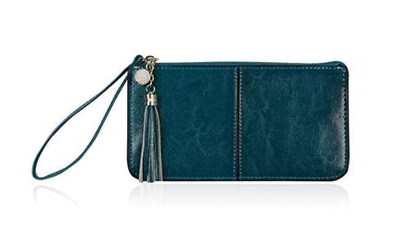 Best for Organization: Befen Women's Leather Wristlet Clutch Cell Phone Wallet