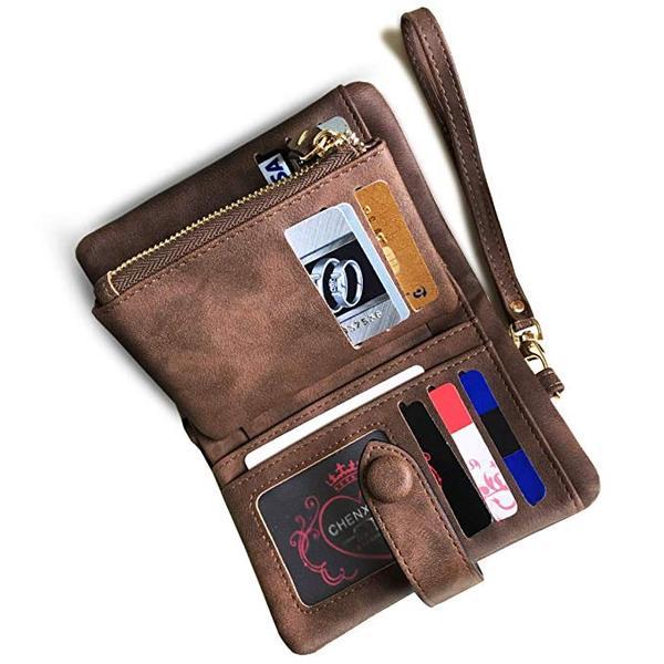 Best Small Bifold: Freehorse Women's Small Wristlet Wallet