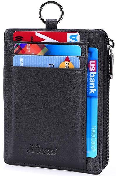 Best Overall: kinzd Slim Zipper Wallet
