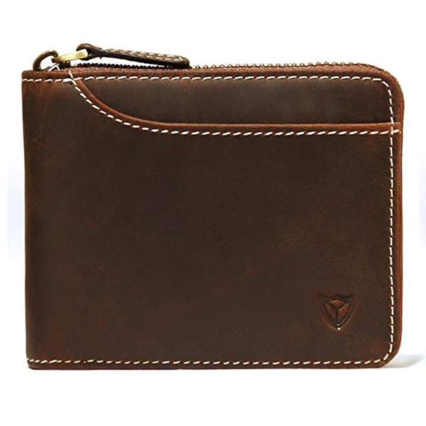 Best Zip: DONWORD RFID Men's Leather Zipper Around Wallet