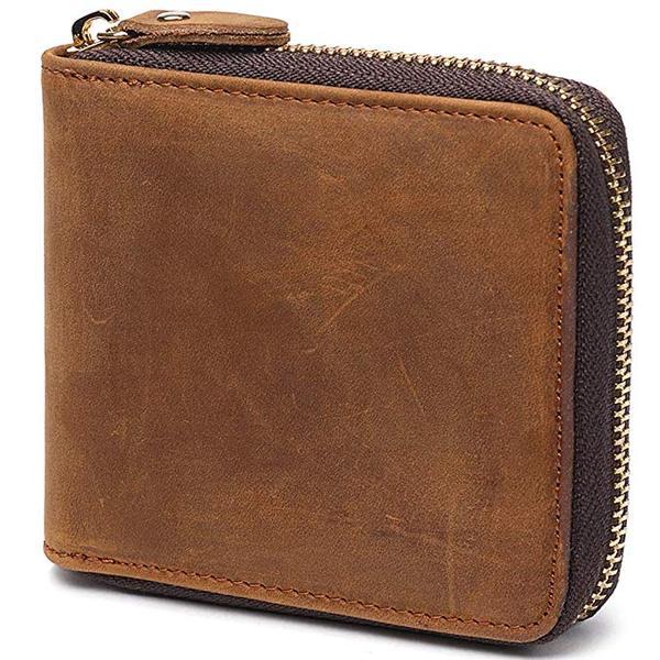 Best Retro: Huztencor Zipper Wallet for Men