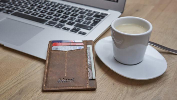 Kinzd Crazy horse leather slim wallet