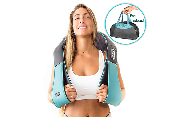 InvoSpa Back Shoulder & Neck Massager with Kneading Pillow