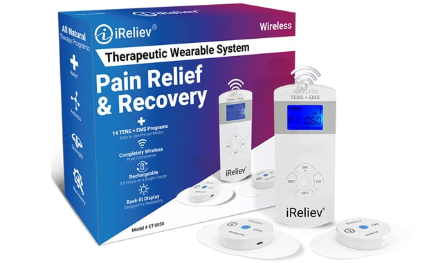 IReliev Wireless TENS + EMS unit