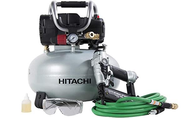 Hitachi KNT50AB Brad Nailer and Compressor Combo Kit