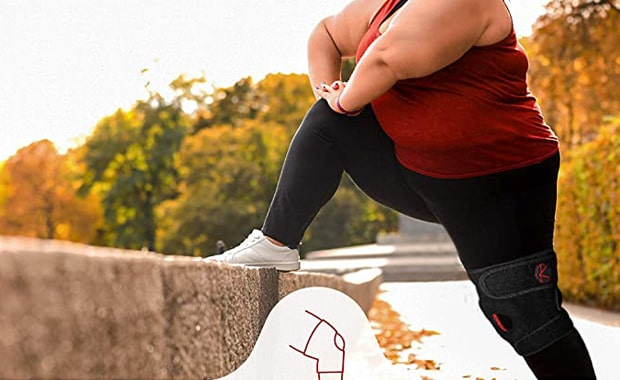 KARM Adjustable Knee Brace Plus Size