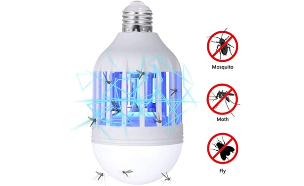 GLOUE Bug Zapper Light Bulb, 2 in 1 Mosquito Killer Lamp