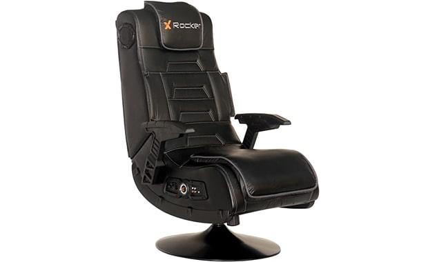 X Rocker Vibrating 2.1 Foldable Black Leather Video Gaming Chair