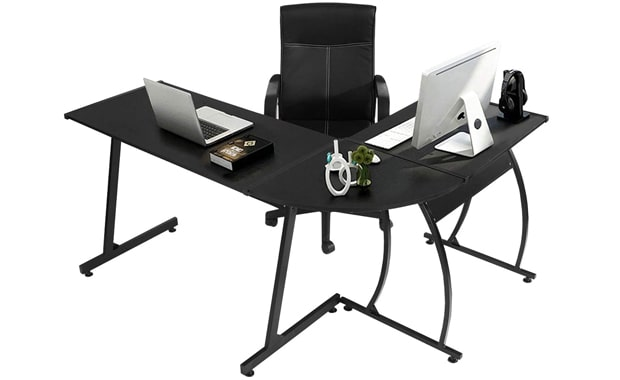 GreenForest Corner L-Shaped Desk Gaming Desk