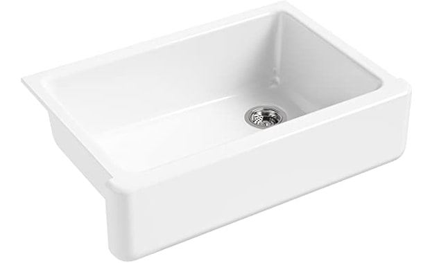 KOHLER K-5827-0 Whitehaven Farmhouse Undermount Single-Bowl Sink
