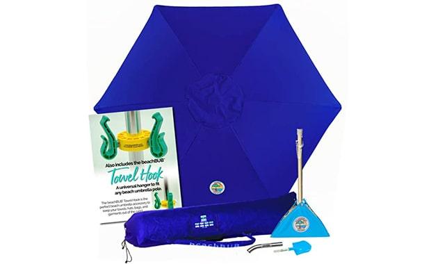 BEACHBUB 7 Foot 50+ UPF Universal Beach Umbrella