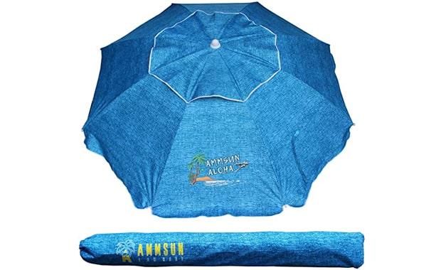 AMMSUN Beach Patio Outdoor Sun Shelter Umbrella