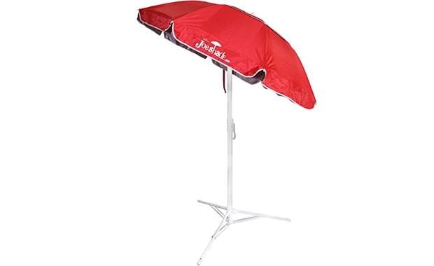 JoeShade Portable RED Sun Shade Sports Beach Umbrella