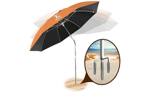 AosKe Portable Patio Beach Wind-proof Umbrella