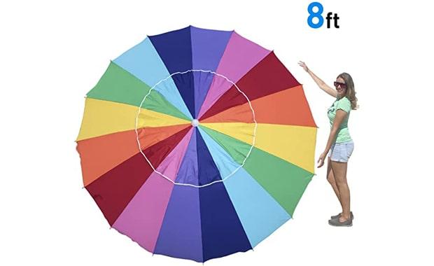 EasyGo Heavy Duty 8 Foot Giant Wind Beach Umbrella