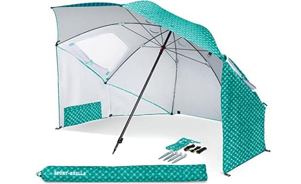 Sport-Brella SPF 50+ Rain and Sun Canopy 8-Foot Vented Umbrella