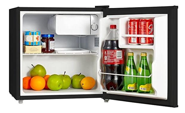 Midea Single Reversible 1.6 Cu Ft WHS-65LB1 Compact Refrigerator
