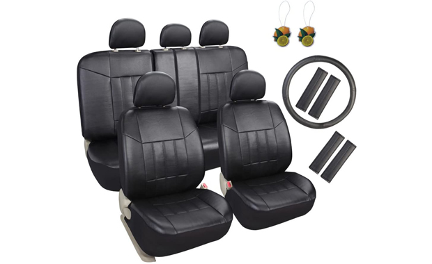 Leader Accessories Faux Leather Full Set Car Seat Cover