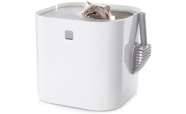 Modkat Litter Box With Scoop and Reusable Liner
