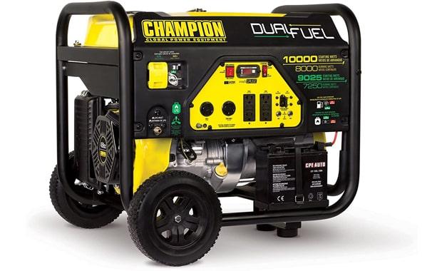 Champion Dual Fuel 8000-Watt Portable Electric Start Generator