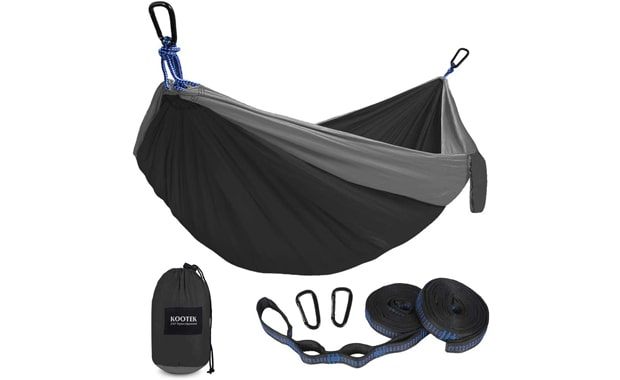 Kootek Single & Double Camping Lightweight Nylon Hammock