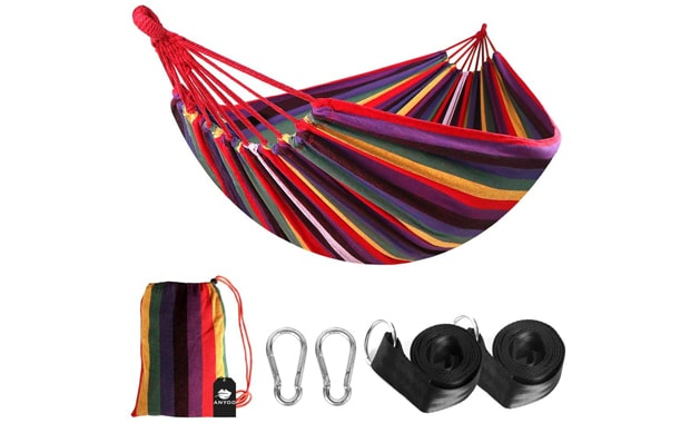 Anyoo Outdoor Single Cotton 450 lbs Hammock