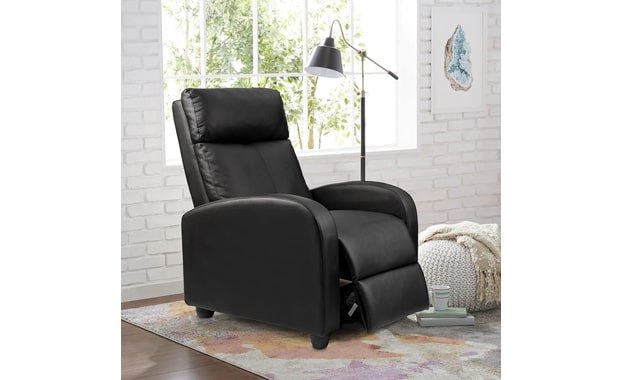 Homall PU Leather Black Recliner Chair