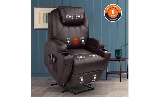 MAGIC UNION Massage Faux Leather Power Lift Recliner Chair