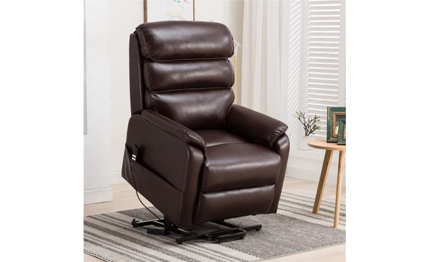 Irene House Power Lift Breath Leather Recliner Chair
