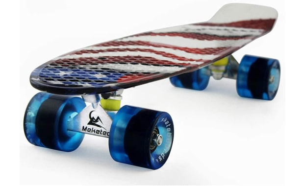 Meketec-Skateboards Complete 22-Inch Mini Cruiser-Retro Skateboard