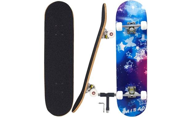 Geelife-Skateboard 7 Layers Decks 31x8 Inches-Pro Complete Skateboard
