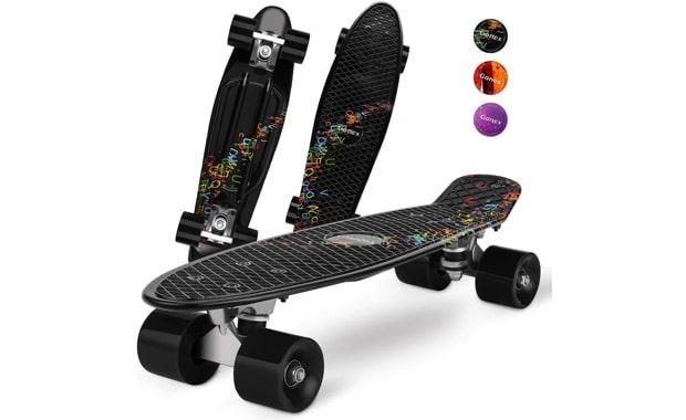 Gonex-Mini Cruiser Skateboard-Complete 22-Inch Plastic Skateboard for   Beginners